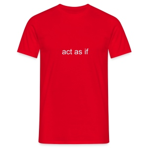 Comfort Tee Red Classic act as if - Men's T-Shirt