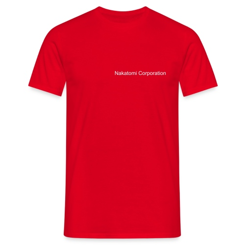 Comfort Tee Red Nakatomi Corporation Security - Men's T-Shirt