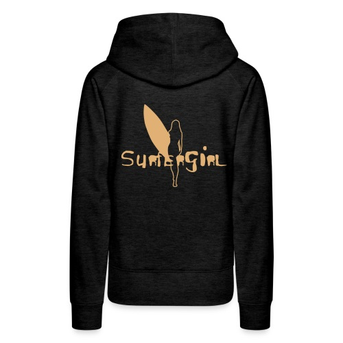 Surfergirl outline hooded Sweater Girls - Frauen Premium Hoodie