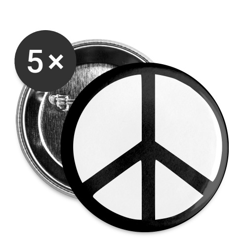 Peace - Buttons mittel 32 mm (5er Pack)