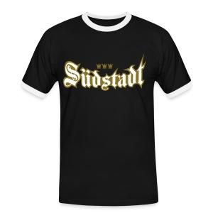 Suedstadt (Frakturschrift) - Männer Kontrast-T-Shirt