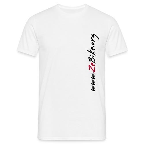 ZeBike Simple Blanc - T-shirt Homme