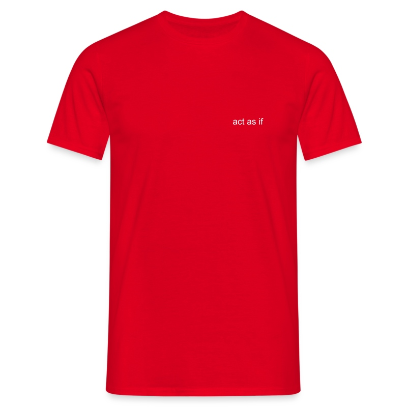 Comfort Tee Red act as if logo small - Men's T-Shirt
