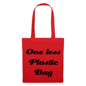 One less plastic bag rouge - Tote Bag