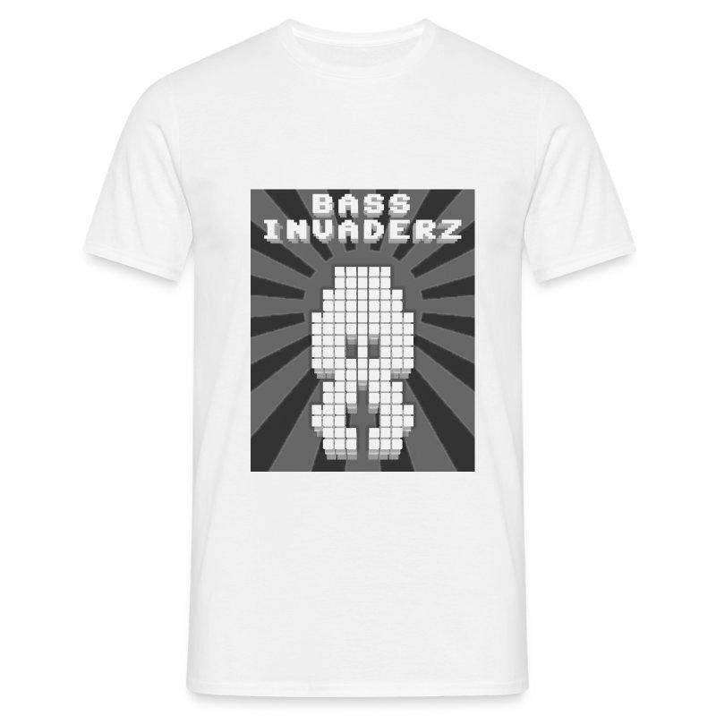 Bass Invaderz: Comfort T White - Men's T-Shirt