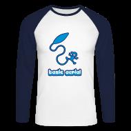 Long sleeve shirts ~ Men's Long Sleeve Baseball T-Shirt ~ Basic Aerial - American Apparel