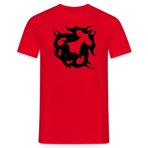 tribal flames - Men's T-Shirt