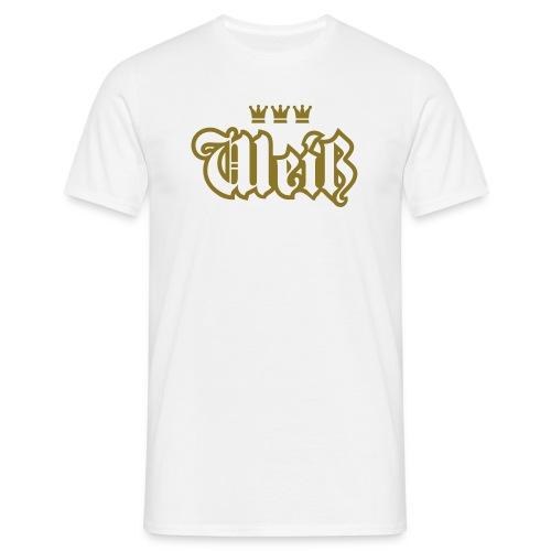 Weiss (Frakturschrift) - Männer T-Shirt