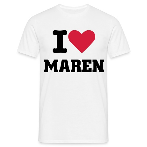 I Love Maren - T-shirt herr