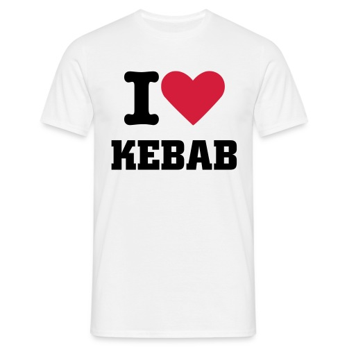 I Love Kebab - T-shirt herr