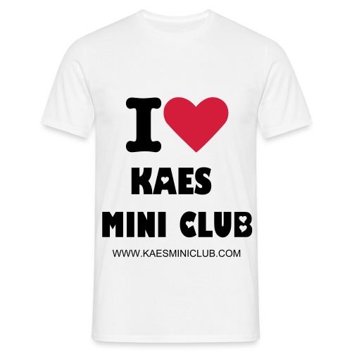 I love KAES MINI Club White Comfort T-Shirt  - Men's T-Shirt