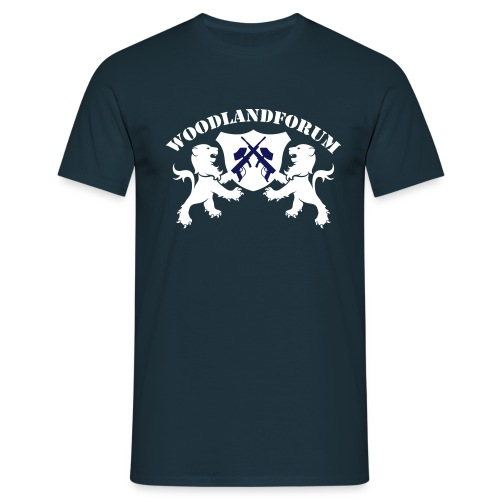 Woodlandforum, navy - Männer T-Shirt