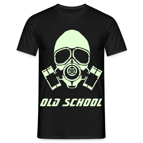 OLD SCHOOL gas mask - Men's T-Shirt