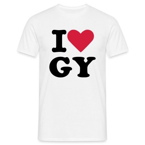 tee-white-mens-LoveGY - Men's T-Shirt