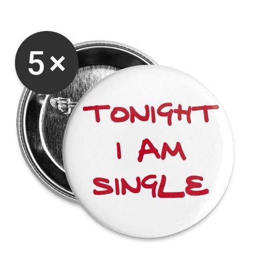 Tonight Single 56mm - Buttons groß 56 mm (5er Pack)