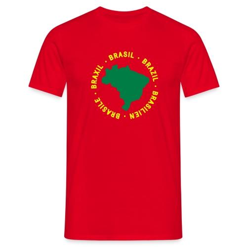 Brasile map - rossa - Maglietta da uomo