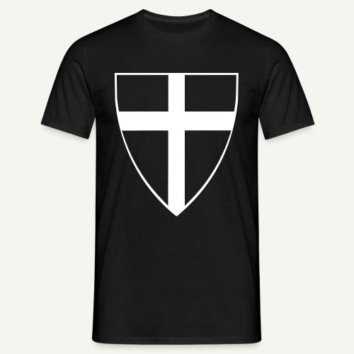 Tarcza z krzyżackim krzyżem - Koszulka męska