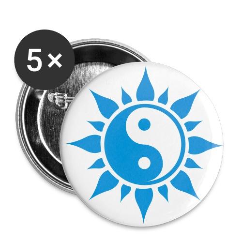 Badge soleil - Lot de 5 petits badges (25 mm)