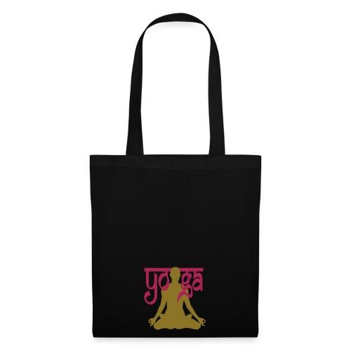 black yoga lotus bag - Tote Bag
