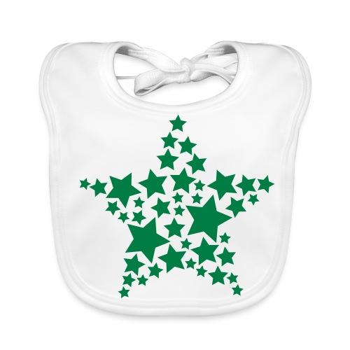 Retro Green Stars Bib - Baby Organic Bib
