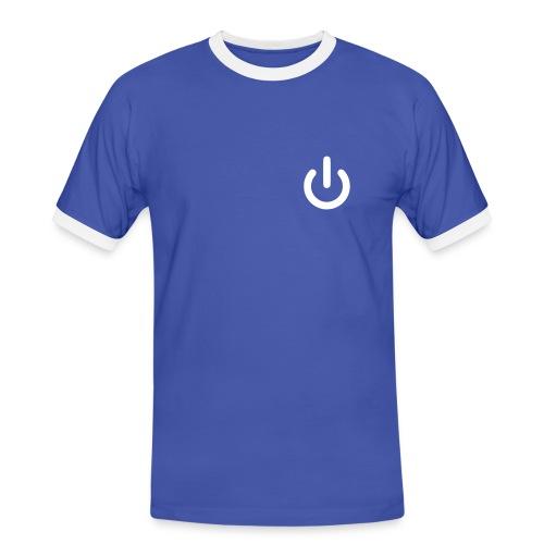 Power Button - Männer Kontrast-T-Shirt