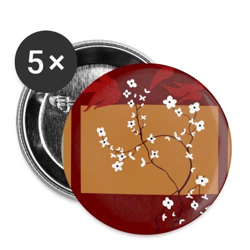 Sakura Button - Buttons klein 25 mm (5er Pack)