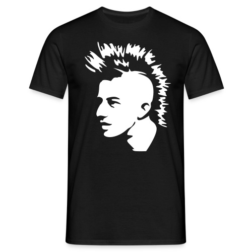 mens punk tee with arm text - Men's T-Shirt