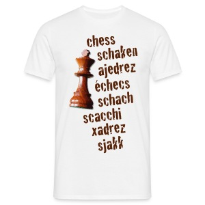 chess in 8 languages / T-shirt - Mannen T-shirt