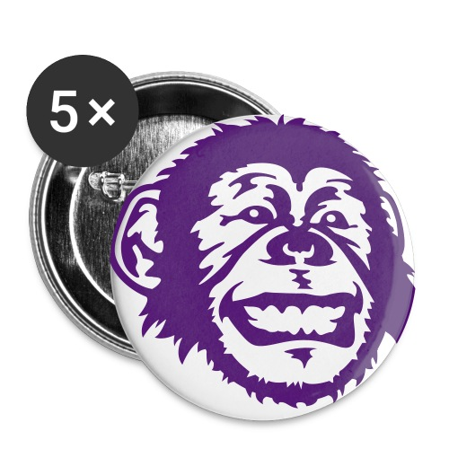 Purple Monkey Buttons - Buttons large 56 mm