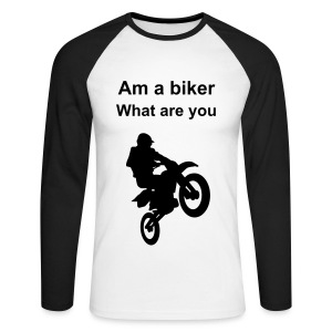 The biker top - Men's Long Sleeve Baseball T-Shirt