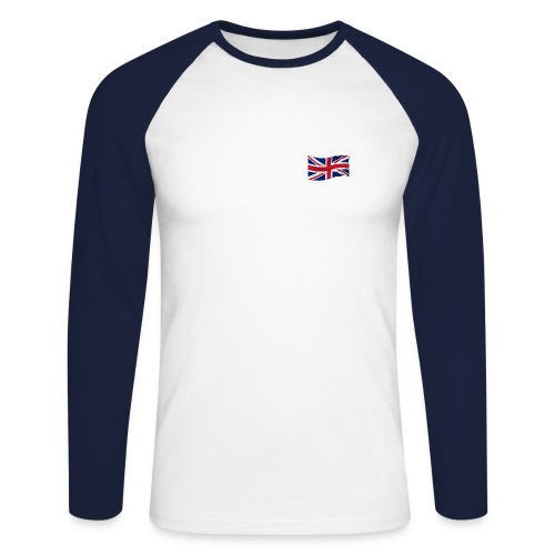 British Flag  - Men's Long Sleeve Baseball T-Shirt