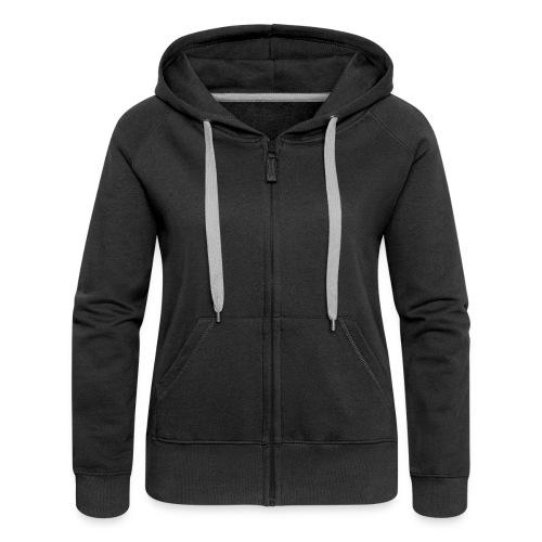 Black Ladies Hooded Sweater - Women's Premium Hooded Jacket