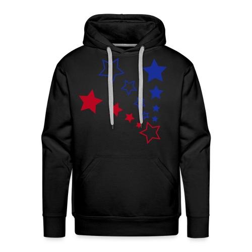 BrandStar Red and Blue Hooded Sweater - Men's Premium Hoodie