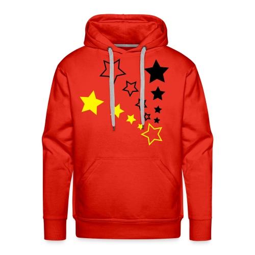 BrandStar Red, Black and Yellow Hooded Sweater - Men's Premium Hoodie
