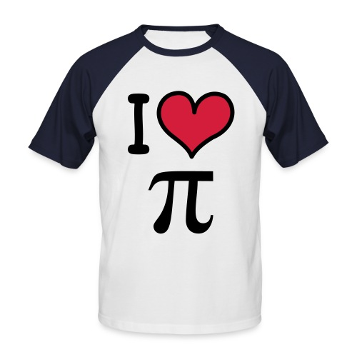 I Love Pie! - Men's Baseball T-Shirt