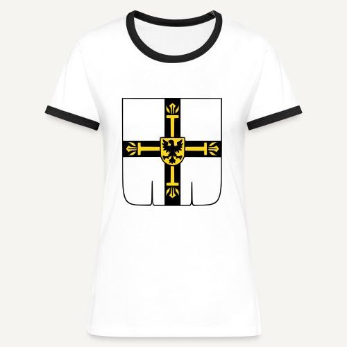 Koszulka damska z kontrastowymi wstawkami