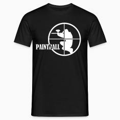Negro Paintball Camisetas (manga corta)