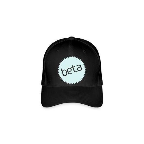 beta - stilsikker Flexfit caps (sort/refleks sølv trykk) - Flexfit baseballcap