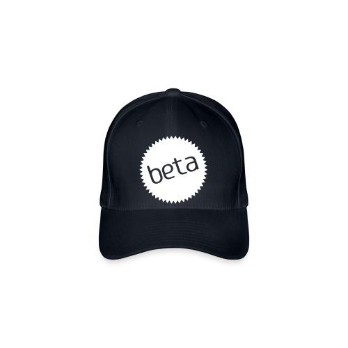 beta - stilsikker Flexfit caps (marine, hvitt trykk) - Flexfit baseballcap