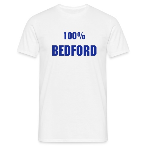 !00% Bedford White n Blue - Men's T-Shirt