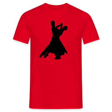 Red Dancing Men's Tees (short-sleeved)