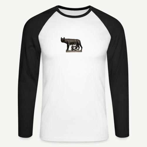 Bluzka z wilczycą - Koszulka męska bejsbolowa z długim rękawem