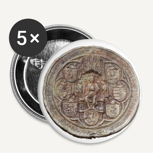 przypinka pieczęc Władyslawa jagiełly - Przypinka średnia 32 mm