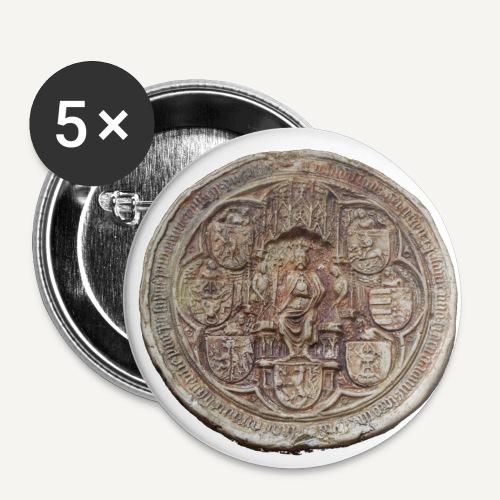 przypinka pieczęc Władyslawa jagiełly - Przypinka średnia 32 mm (pakiet 5 szt.)