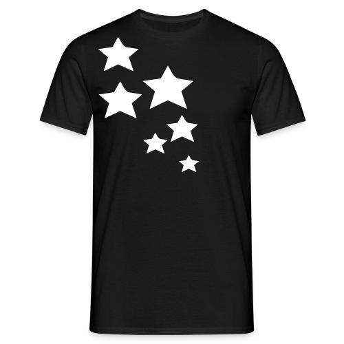 Basic Black Tshirt, White star - Men's T-Shirt