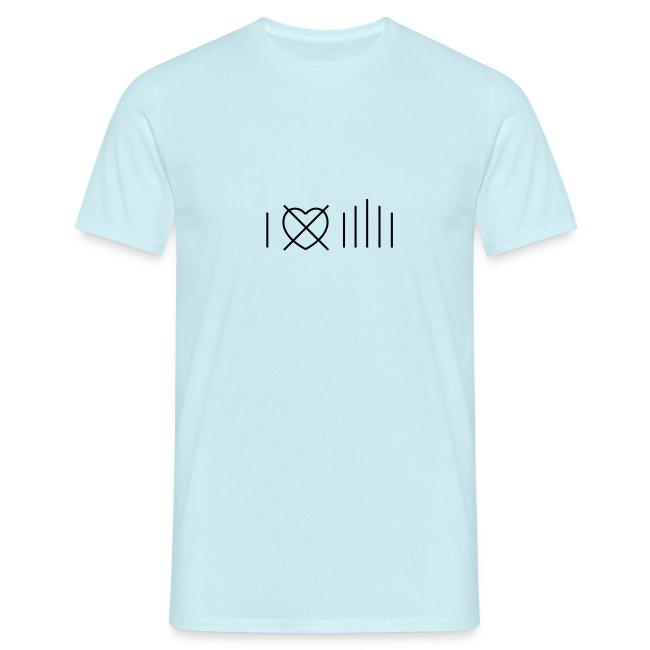 Bianco I don't love Milan T-shirt ( corte)