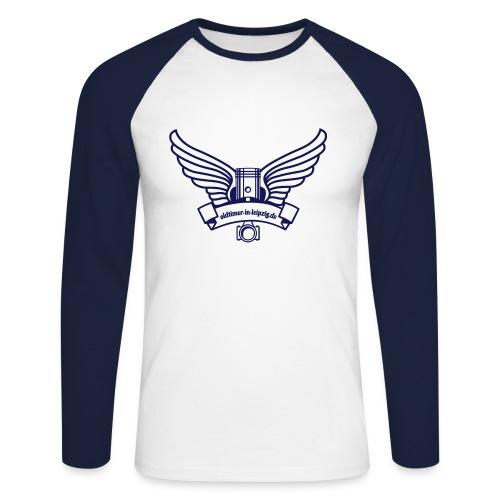 Pullover mit Frontdruck - Männer Baseballshirt langarm
