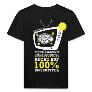 Nachtleuchtende Farbe - Kinder Bio-T-Shirt