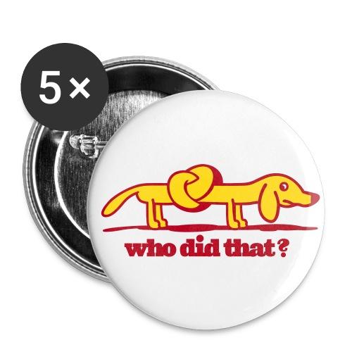 Wurstel Button - Buttons mittel 32 mm (5er Pack)
