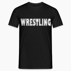 Black Wrestling Men's Tees (short-sleeved)